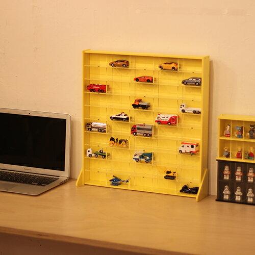 人気商品 DIY mini car collection caseアクリル ミニカー コレクションケース 50 白 黄色