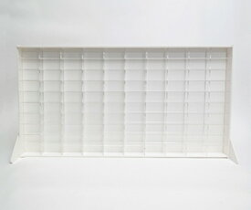 人気商品 DIY mini car collection caseアクリル ミニカー コレクションケース 100 白 黄色