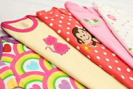2000円ポッキリ ボディスーツ 半袖 長袖 セット ロンパース 女の子 肌着 下着 出産祝い 福袋 パジャマにも
