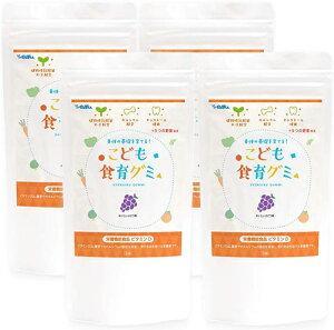 幼児 栄養補助おやつ こども食育グミ 4袋 偏食 少食 野菜嫌い 植物性乳酸菌(お米由来K-2乳酸菌)216億 ビタミンD キシリトール 栄養機能食品