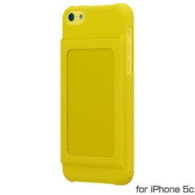 Bluevision iPhone5c用ケース OsaifuSlim for iPhone 5c 非接触ICカード収納可能ハードケース Yellow イエロー BV-OSIP5C-YL