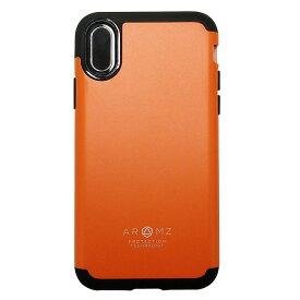 【在庫処分】 エアージェイ iPhoneX iPhoneXs (5.8インチ) 耐衝撃 カバー (オレンジ) AC-P8-GA OR ポリカーボネートとTPU
