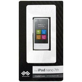 iPod nano 7th用クリスタルケース 液晶保護フィルム付 WEIPNA7CC (ブラック) ハードケース WHITE EVER(ホワイトエバー)