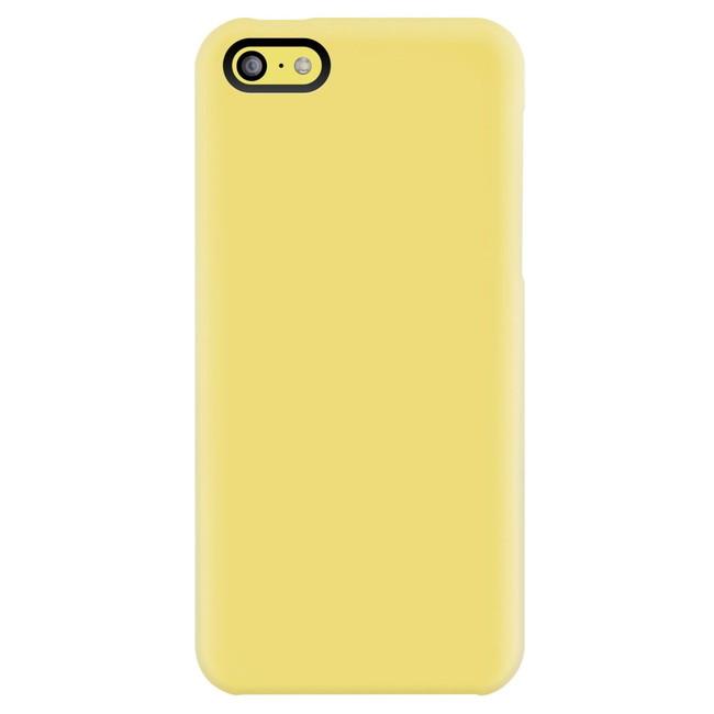 スマホケース カバー iPhone5c SwitchEasy イエロー 黄色 ジャケット シリコン スクリーン保護フィルム コネクタプロテクター(2個) マイクロファイバークロス NUDE SW-NUI5C-Y