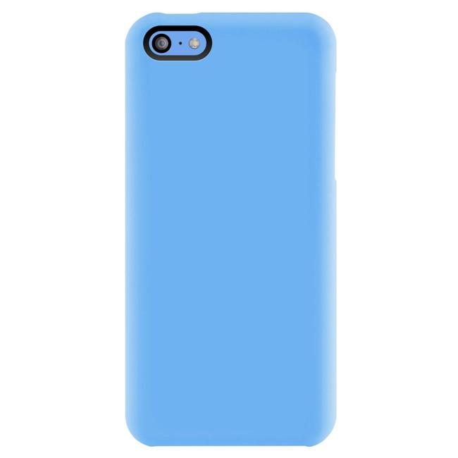 スマホケース カバー iPhone5c SwitchEasy ブルー 青 ジャケット シリコン スクリーン保護フィルム コネクタプロテクター(2個) マイクロファイバークロス NUDE SW-NUI5C-BL
