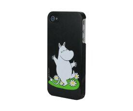スマホケース カバー iPhone4 4s Moomin ブラック 黒 ジャケット ムーミン