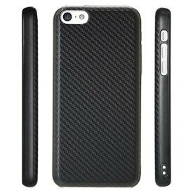 スマホケース カバー iPhone5c Bluevision ブラック 黒 ジャケット Apple EarPodsイヤホン専用シリコンカバー スクリーン保護フィルム 超極細繊維マイクロファイバークリーニングクロス 気泡除去用バブルリムーバー Friend-S Carbon カーボン BV-FDS-IP5C-CA