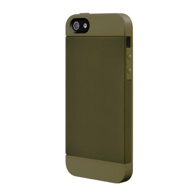 スマホケース カバー iPhone5 5s se SwitchEasy グリーン ミリタリー 緑 ジャケット ポリカーボネート ソフトラバー 帯電防止スクリーン保護フィルム(正面2枚・背面1枚) マイクロファイバークロス TONES Military Green ミリタリーグリーン SW-TON5-MG