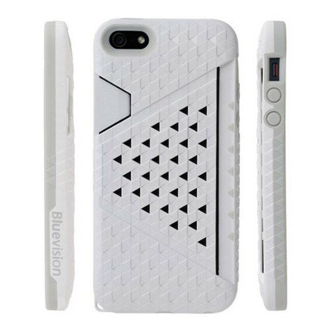スマホケース カバー iPhone5 5s se Bluevision ホワイト 白 ジャケット カードホルダー ポリカーボネート ソフトラバー マイクロファイバークロス スクリーン保護フィルム Kaleido Card Slot Case BV-KALCSIP5-WT
