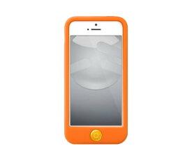 スマホケース カバー iPhone5 5s se SwitchEasy オレンジ ジャケット シリコン 帯電防止加工スクリーン保護フィルム 2枚/コネクタプロテクター 2個(ケース同色)/マイクロファイバークロス/スクリーンスクイージー(気泡除去カード) Colors Saffron サフラン SW-COL5-O