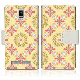 【送料無料】 携帯ケース 手帳型スマホケース フリーテル FTJ162D-Priori4ケース 手帳型ケース 【サンフラワーデザイン】