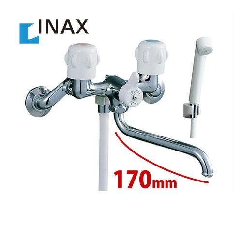 【送料無料】[BF-651-RU] INAX イナックス 2ハンドルシャワーバス水栓 壁付タイプ スプレーシャワー 吐水口長さ:170mm【シールテープ無料プレゼント!(希望者のみ)※水栓の箱を開封し同梱します】 混合水栓 蛇口 シャワー水栓 浴室用