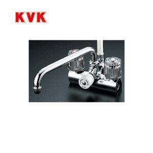 [KF206]KVK 浴室水栓 シャワー水栓 2ハンドルシャワー デッキ形(台付き) 取付ピッチ120mm 一時止水 逆止弁 エコこま(快適節水) 蛇口 【送料無料】 デッキタイプ おしゃれ