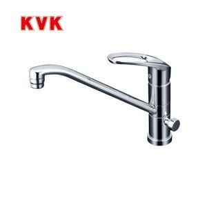 [KM5041CT]KVK キッチン水栓 キッチン用水栓 シングルレバー式混合栓 流し台用 回転分岐孔付(給水側360°回転式) 泡沫 省施工仕様 逆止弁 キッチン用 混合水栓 キッチン 水栓 蛇口 【送料無料