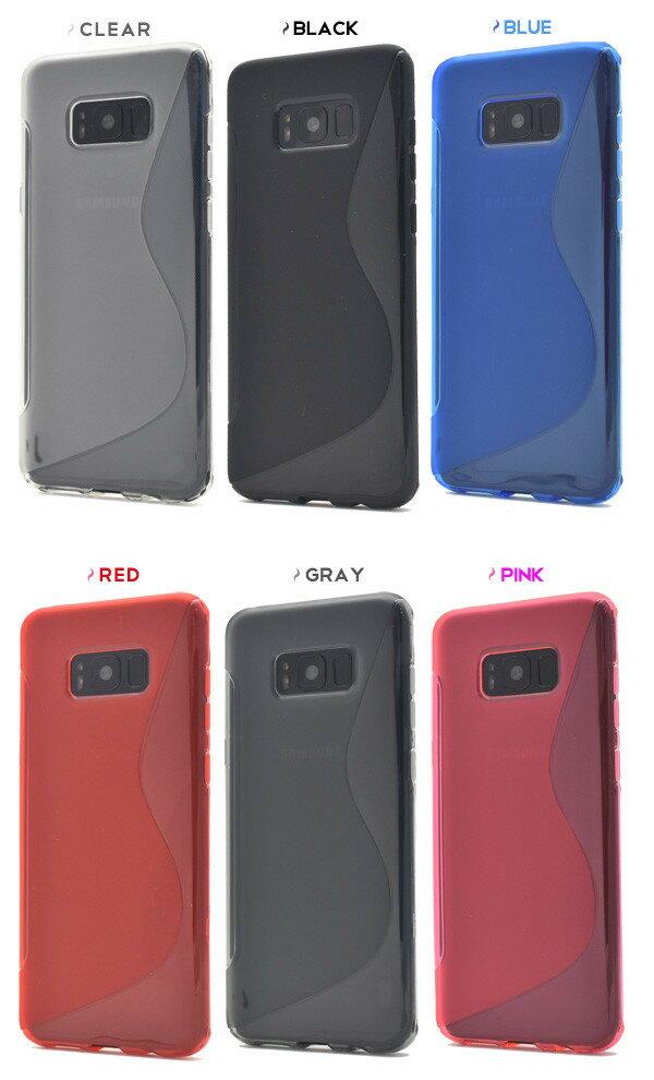 galaxy s8+ ケース 耐衝撃 sc-03j ケース ギャラクシーs8+ スマホケース シンプル galaxys8+ カバー かわいい scv35 ソフトケース クリア galaxy s8 プラスケース グリップ 加工 スマホカバー 青 黒 赤 透明 ピンク auドコモ
