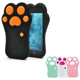 iphone8 iphone7 iphonese iphone se 2020 第2世代 ケース カバー iphone7ケース 肉球 おしゃれ 可愛い シリコン かわいい 猫 黒 白 ピンク グリーン 緑 ねこ おもしろ ケース オシャレ 猫の手 iphone se2 スマホケース スマホカバー キャット シリコンケース ネコ