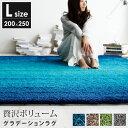 ラグ グラデーションラグ 200×250 厚手 カーペット シャギーラグ ラグマット 滑り止め じゅうたん センターラグ 絨毯…