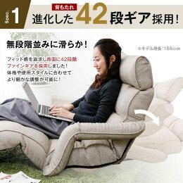 座椅子リクライニング肘掛けハイバック座イス座いす