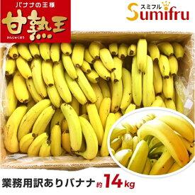 バナナ 業務用 約80本 甘熟王 訳あり 高地栽培 大量 14kg フィリピン産 sumifru スミフル 学園祭 スポーツ 送料無料 ばなな わけあり バナナジュースにおすすめ 【他の商品との同時購入不可】
