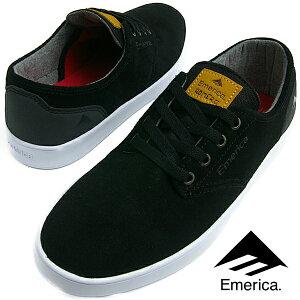 Emerica エメリカ ROMERO LACED (552) ロメロ レースド BLACK/BLACK/WHITE メンズ レディース スニーカー スケシュー スケートシューズ