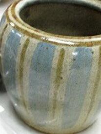 信楽焼手火鉢(約 W14cm×H10cm)、徳島産竹炭カット5cm 20枚セット--B