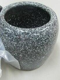信楽焼き手火鉢【灰色】 ゴールデントング 火箸 底白砂500gセット   備長炭1本 浄水竹炭5枚付き