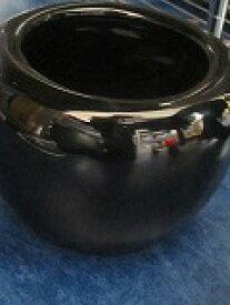 信楽、オリジナルブラック火鉢 H10cm×W14cm そこ砂500g付