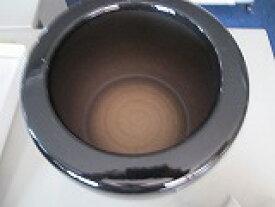 信楽焼手火鉢 黒(W14cm×H12cm)と徳島産竹炭カット5cm 20枚セット