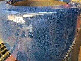 信楽白火鉢、11号 ブルー(オリジナル)