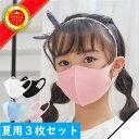 マスク 冷感 夏用マスク 子供用 大人用 5カラー3枚セット おしゃれ 接触冷感 ひんやり 洗える 冷感マスク 夏マスク 多…
