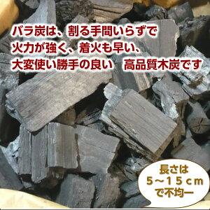 ナラ材を主原料とした木炭