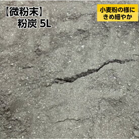 【微粉末】粉炭5L[大西林業] 国産・北海道産 /小麦粉の様にきめ細やかな粉炭。天然広葉樹が原料の木炭パウダー