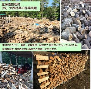 大西林業の薪作業風景