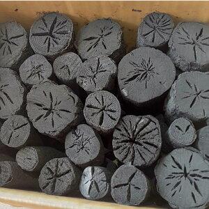 しらおい木炭2kg(ナラ)丸炭・約6cm国産北海道産