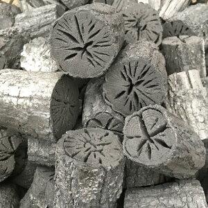 しらおい木炭2kg【ナラ・丸炭】・約6cm国産北海道産北海道より産地直送!菊割れ・茶道炭・茶の湯炭