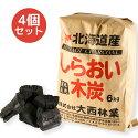 【送料無料】しらおい木炭6kg×4個セット(バラ)