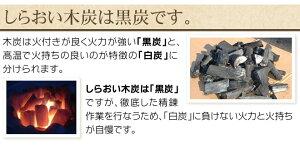 しらおい木炭は黒炭です