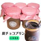 【炭チョコプリン】×5個セット北海道の厳選素材からうまれた新しい健康スイーツ
