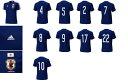 アディダス adidas 2014-15 日本代表 JFA ホーム レプリカ ナンバー Tシャツ 2番 4番 5番 7番 8番 9番 10番 17番 22番 11番 16番 ジュニア キッズ IKF6