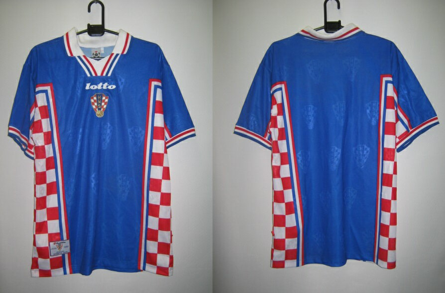 ロット 1998-99 LS298545 クロアチア アウェイ レプリカ ゲーム シャツ 半袖