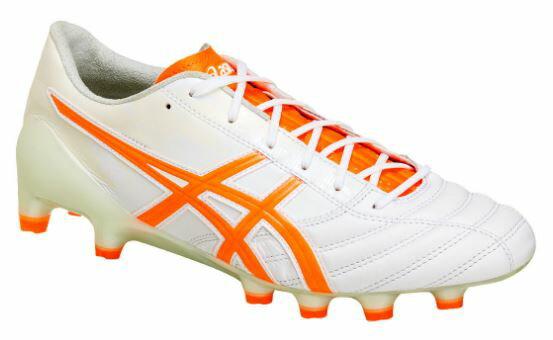 アシックス DSライトX-フライ3 ホワイト/ショッキングオレンジ サッカー スパイク シューズ カンガルー レザー  DS LIGHT X-FLY 3 「乾選手着用モデル」