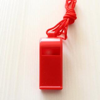プラスチックホイッスル(笛)プラ呼子笛赤色20個セット