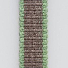 <メール便対象> お祭り用品 箱紐(平紐) こげ茶に緑ふち【#07】 幅12mm ※1m単位で切売りします [ はこひも ひらひも さなだひも おび 手芸 血止め 平打ちひも 平打紐 組みひも 組紐 tape 真田紐 ]