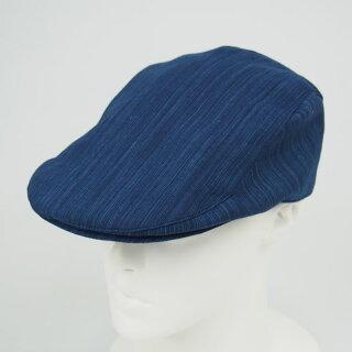ハンチング帽(調整ベルト付き)雨かすり生地【受注生産:納期約14日間】ハンチング・帽子・Huntingcap・ハンチングベレー・ハンチングキャップ・鳥打帽・とりうちぼう