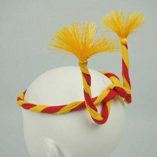 <メール便対象>お祭り用品ねじりはちまき中芯入り子供用赤/黄直径約11mm