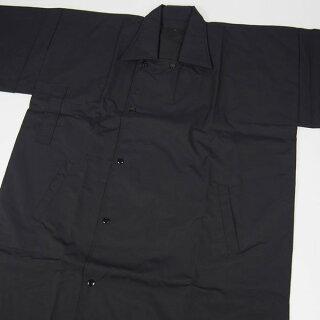 お祭り用品祭すみたやオリジナル半天用被布コート(黒)M・L・LLサイズ