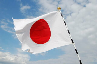 日の丸(日本国旗)掲揚セット(家庭用)金具付き