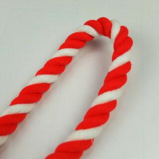 切り売り紅白ロープ(アクリル製)太さ約15mmアクリル紅白ロープを1m単位で切り売りします