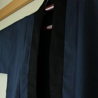 お祭り用品大人用無地黒衿半天紺半纏・袢纏・法被・半被・はっぴ・ハッピ・無地半天