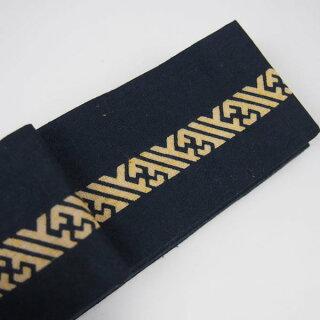 お祭り用品源氏平ぐけ帯(細角帯)サヤ型(紗綾型)紺